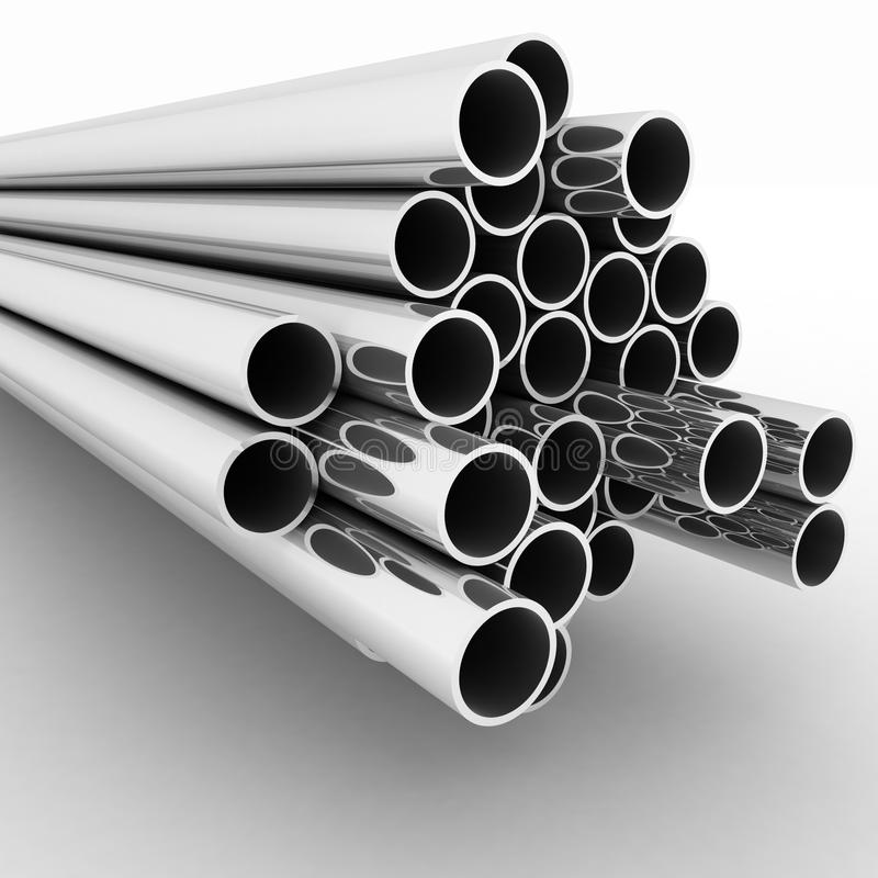 Download Metal pipes stock illustration. Image of profile, stainless - 28717990