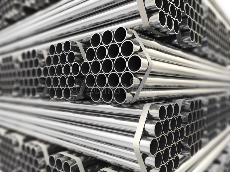 Metal pipes. royalty free illustration