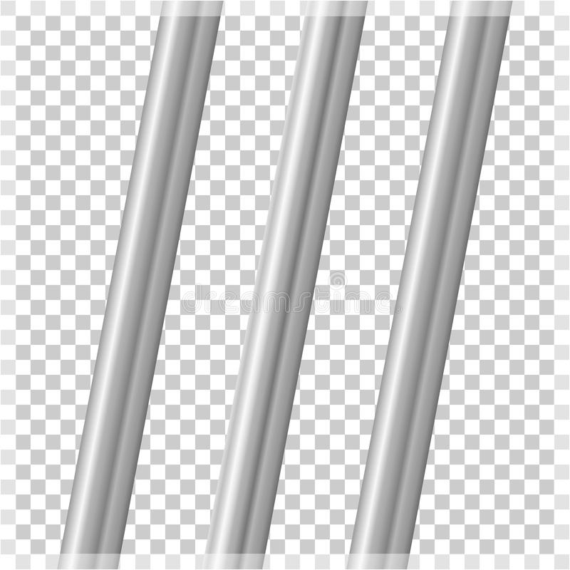 Metal pipes on a transparent background. Vector illustration of stock illustration