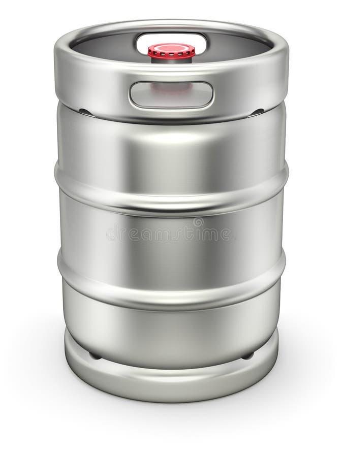 Metal piwna baryłka ilustracji