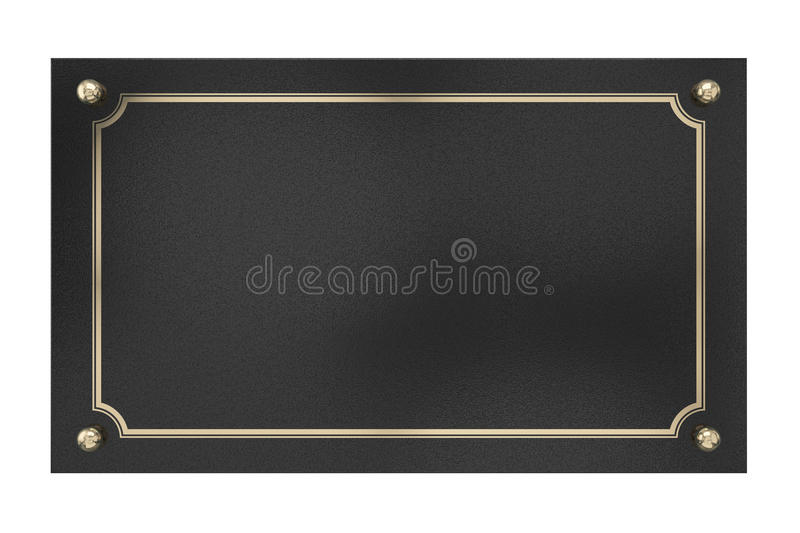 Download Metal Plaque. Isolated On White. Royalty Free Stock Photography - Image: 33121297