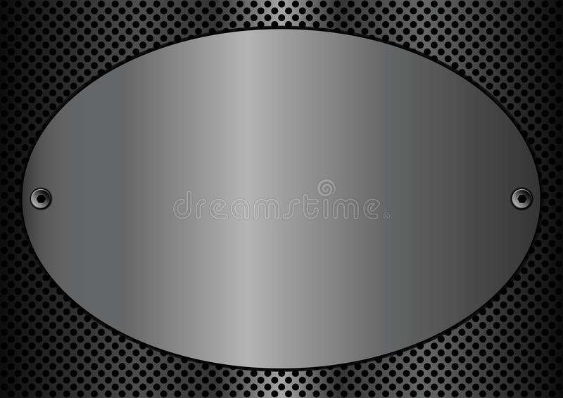 Metal plaque oval stock vector illustration of polished for Plaque de metal adhesive