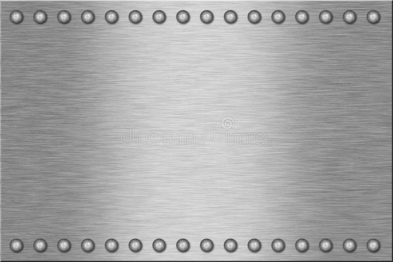 Download Metal Plate stock photo. Image of brushed, rivet, rivets - 8455054
