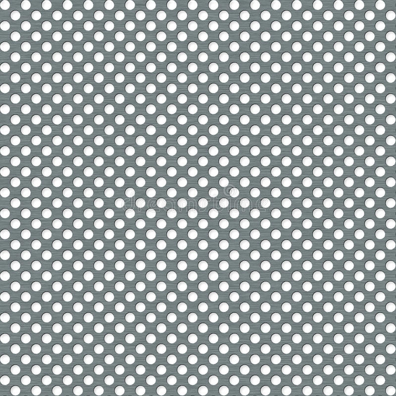Metal plate with apertures - seamless background. Metal plate with apertures - the illustrated background royalty free illustration