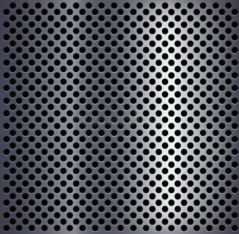 Metal plate with holes. royalty free illustration