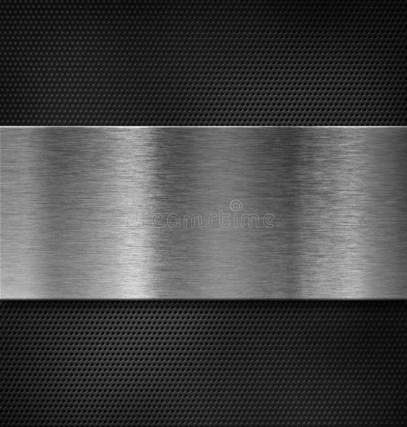 Metal plate over grate royalty free illustration
