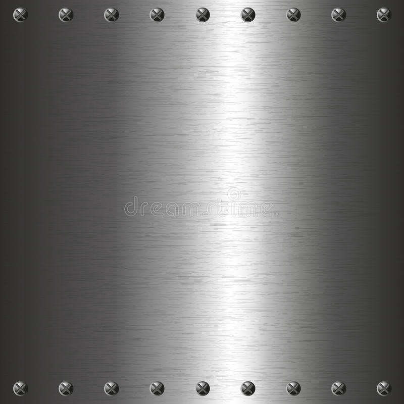 Metal Plate With Screws Stock Images