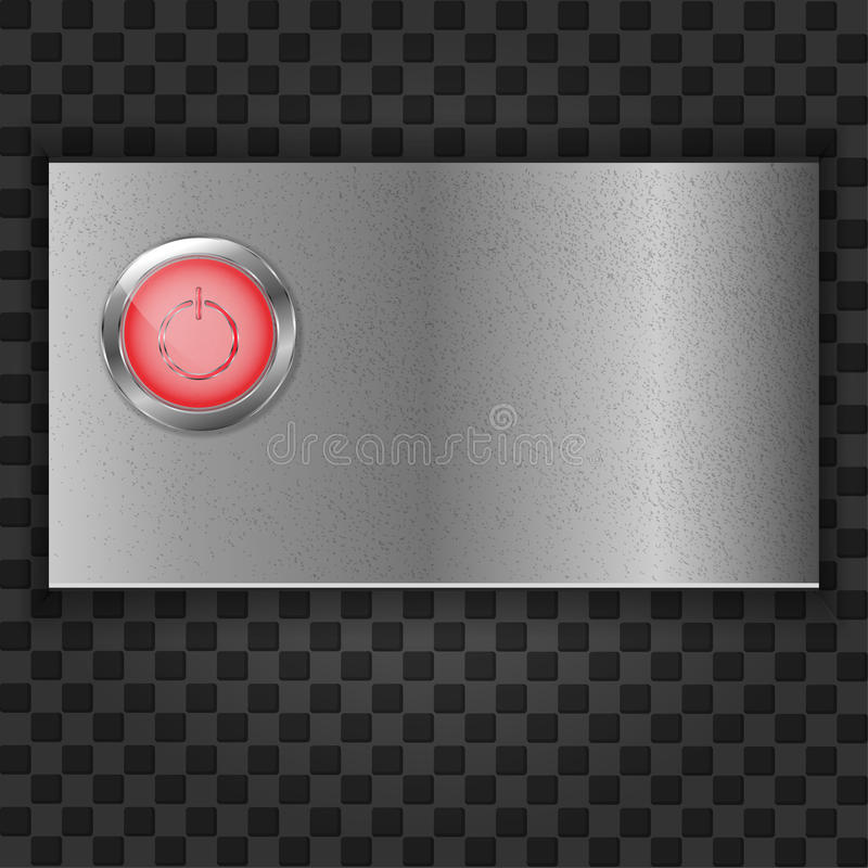 Download Metal Plate With Start Button Stock Vector - Image: 25102222