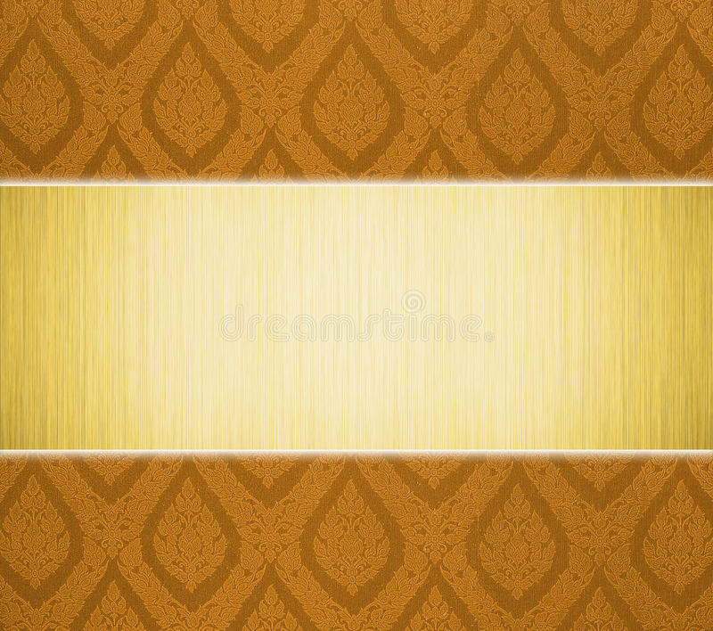 Download Metal Plate And Thai Pattern Stock Illustration - Image: 22788723