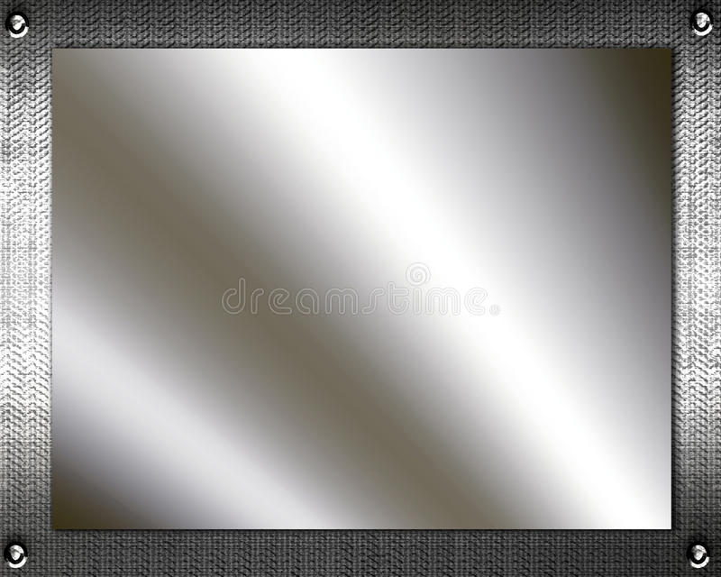 Metal Plates. Background of shiny silver metal plates stock illustration