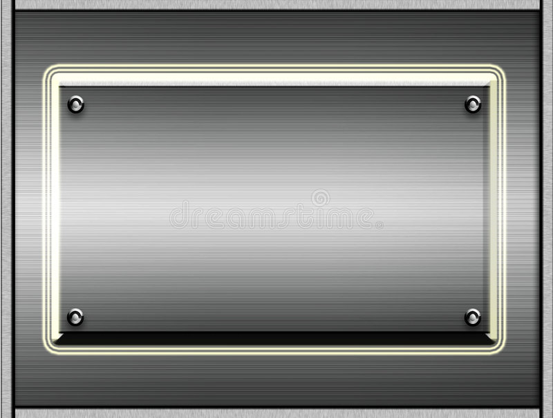 Download Metal Plates Or Plaques stock illustration. Image of grunge - 4498817