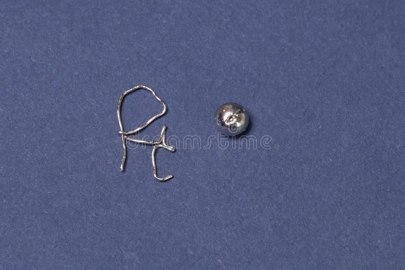 Metal platyna, kawałek metal zdjęcie stock