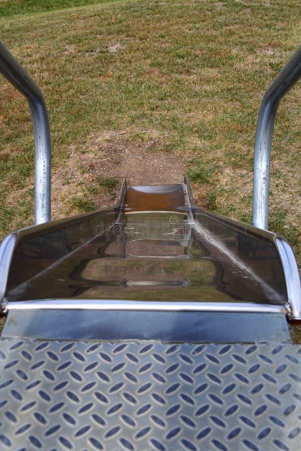 Download Metal playground slide stock image. Image of yard, youth - 26904739
