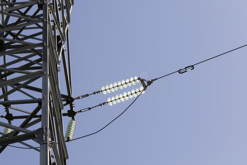 metal poles stock photography