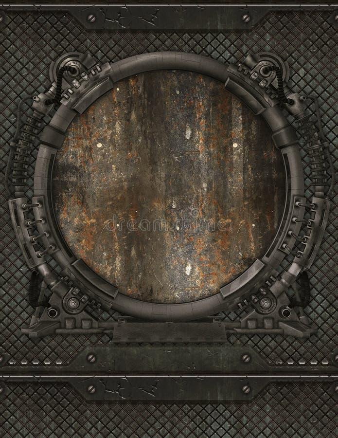Metal porthole royalty free stock photo