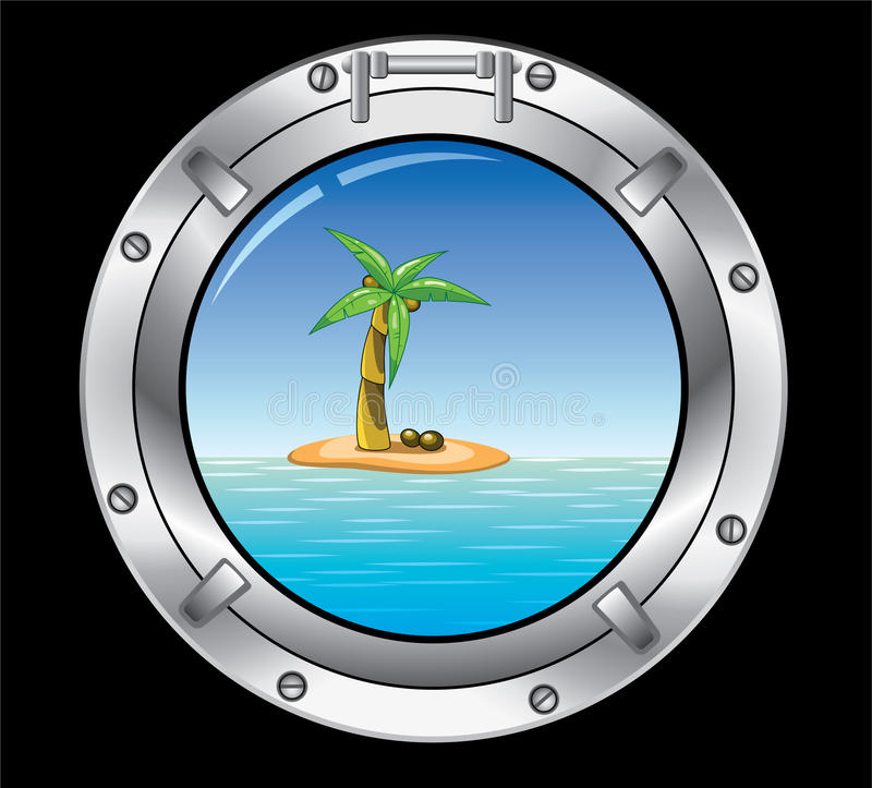 Free Metal Porthole And Palm Tree Stock Photography - 19218282