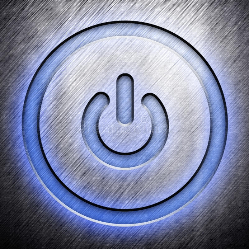 Download Metal Power Icon Stock Images - Image: 12356964