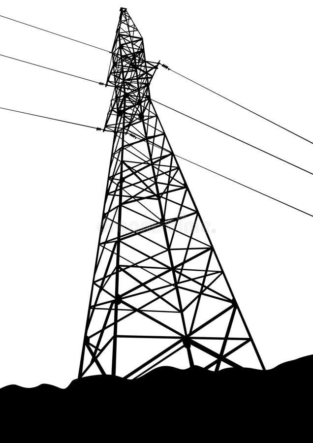 Metal power tower royalty free illustration