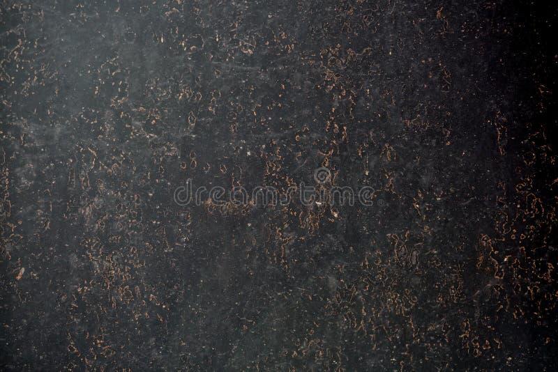 Metal preto fundo corroído da textura imagens de stock