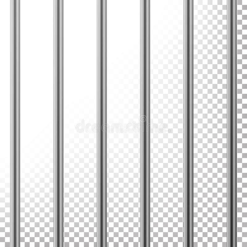 Free Metal Prison Bars Vector. Isolated On Transparent Background. Realistic Steel Pokey, Prison Grid Illustration Stock Photography - 95516242