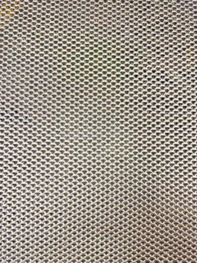 Metal produkcji siatka z małymi dziurami, srebny kolor, przeplata aluminiowych druciki obrazy stock