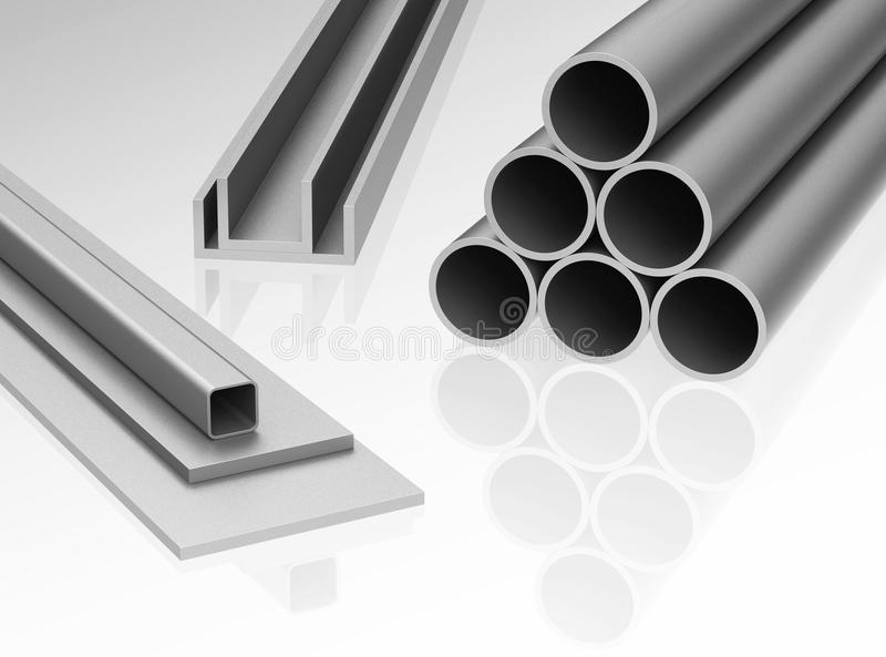 Metal profiles royalty free illustration