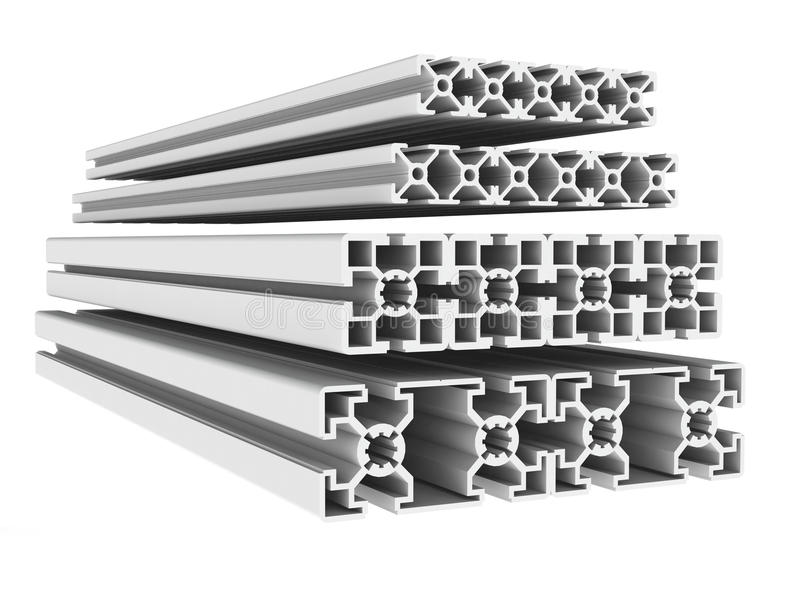 Metal profiles stock illustration