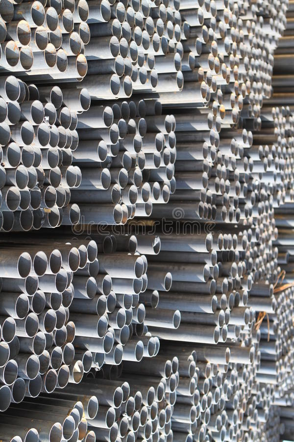 Metal profiles tube stock photography