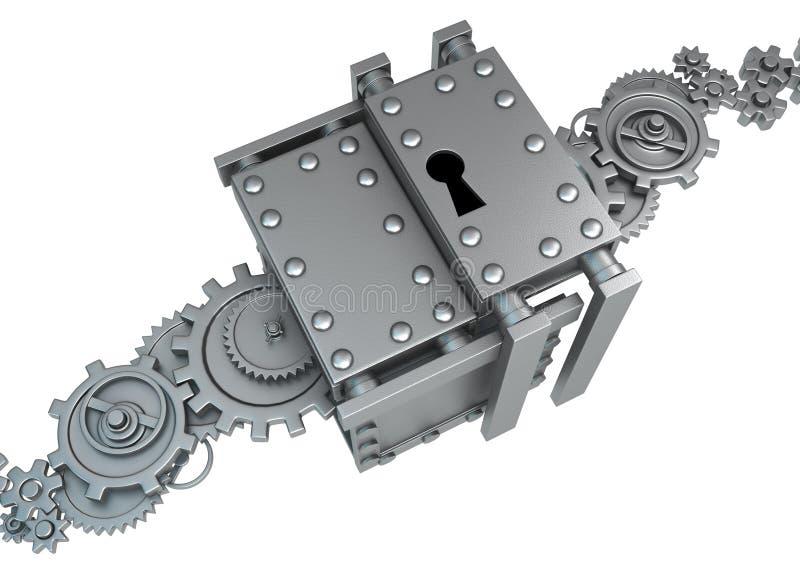 Metal przekładni kędziorek ilustracja wektor