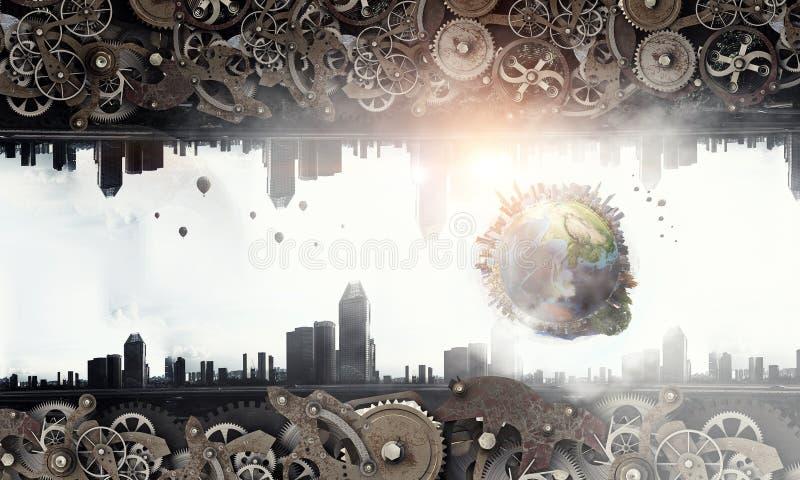 Metal przekładni mechanizm obraz stock