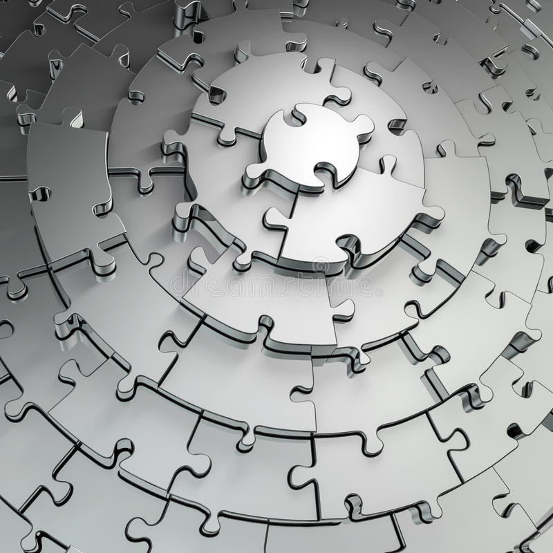 Download Metal puzzle background stock illustration. Image of shiny - 29143793