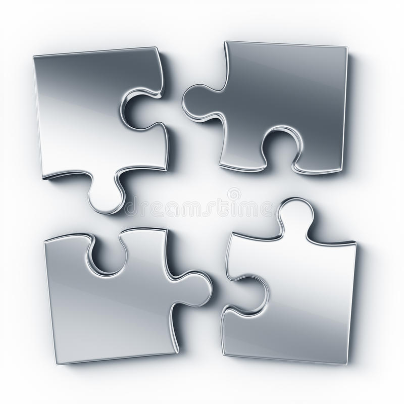Download Metal puzzle pieces stock illustration. Illustration of part - 21512259