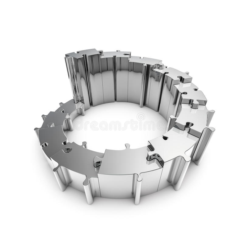 Download Metal Puzzle Steps Stock Photo - Image: 29188060