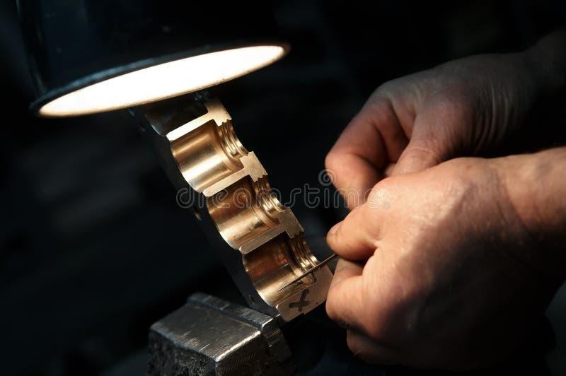 Metal que trabalha com arquivo foto de stock royalty free