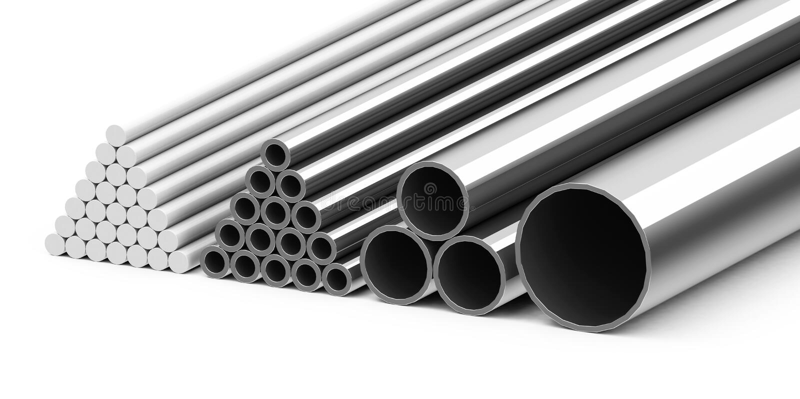 Metal rør stock illustrationer