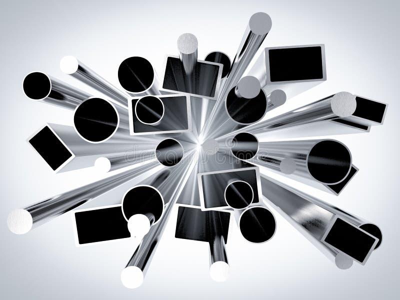 Metal rør vektor illustrationer