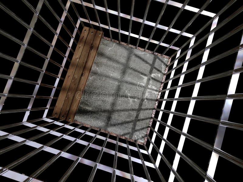 Metal Rahmen 3d, Konzept Von Gefängnis 01 Stock Abbildung ...
