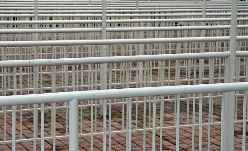 Download Metal railings barrier stock image. Image of transennare - 25353109