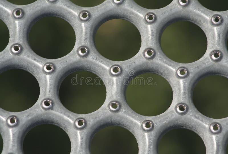 Metal Rasterfeld stockfotos