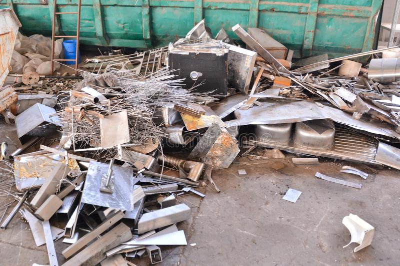 Metal Ready for Recycling stock image
