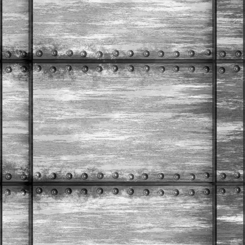 Metal rebitado ilustração stock