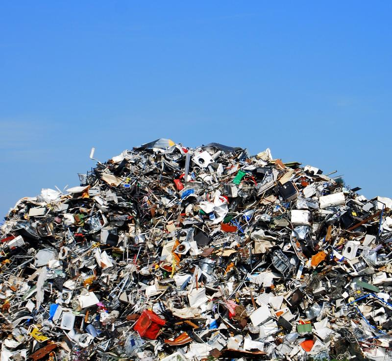 Metal recycling royalty free stock image