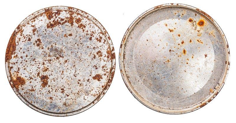 Metal redondo determinado del casquillo oxidado fotos de archivo libres de regalías