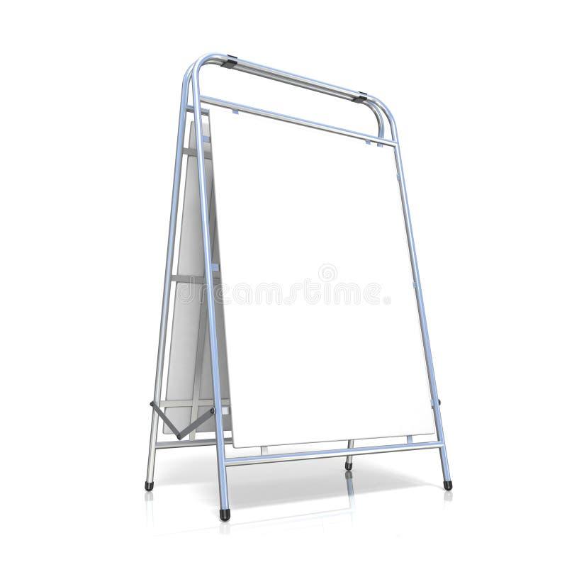 Metal reklamy stojak z kopii przestrzeni deską, ilustracji