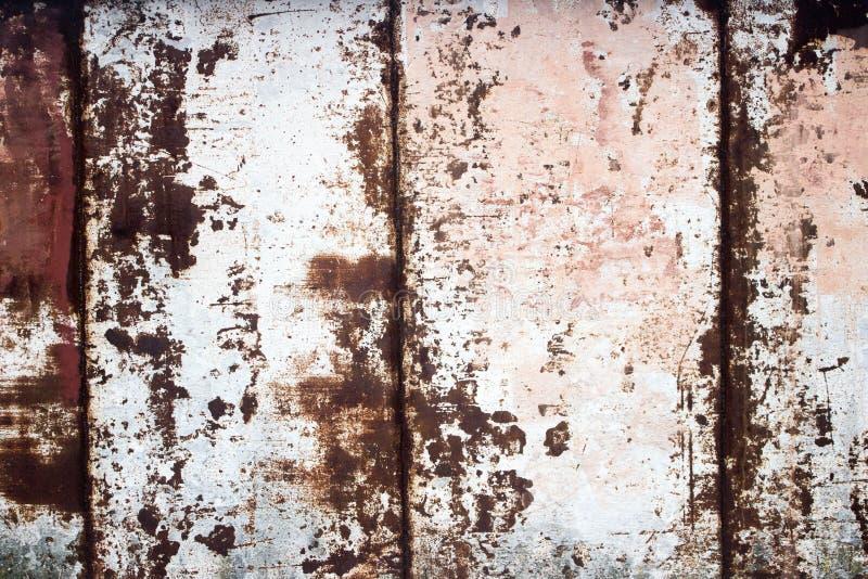 Metal revestido Fundo decorativo do metal velho, corrosão inclinada fotografia de stock
