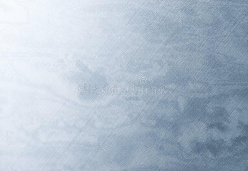 Metal riscado azul imagem de stock