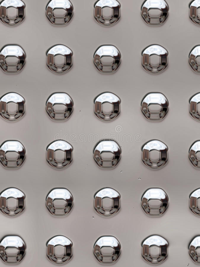 Metal rivets. Used for industry and construction stock image