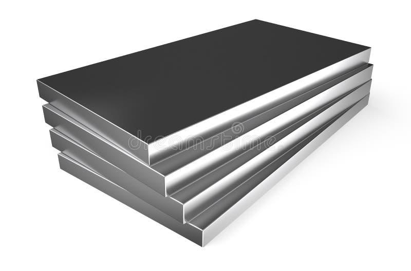 Metal rolado, folhas ilustração royalty free