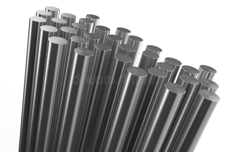 Metal rolado, hastes ilustração do vetor