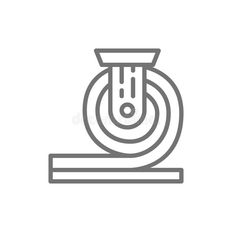 Metal rolado, linha ícone da metalurgia ilustração stock